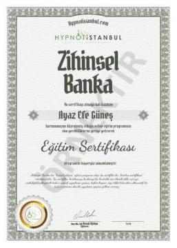 Zihinsel Banka Sertifika